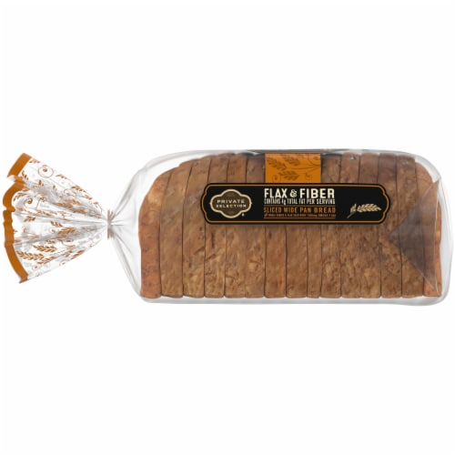 Private Selection® Omega Flax & Fiber Wide Pan Bread Perspective: left