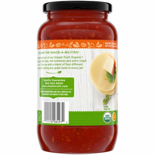 Simple Truth Organic® 4 Cheese Pasta Sauce Perspective: left
