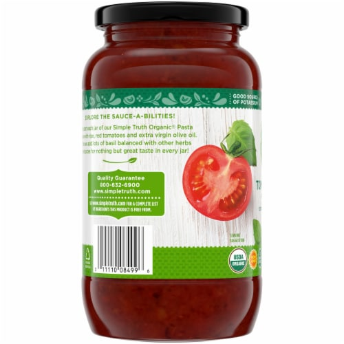 Simple Truth Organic® Tomato Basil Pasta Sauce Perspective: left