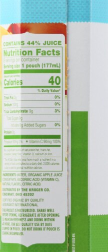 Simple Truth Organic® Apple-Solutely Fabulous Flavored Juice Drink Pouches Perspective: left
