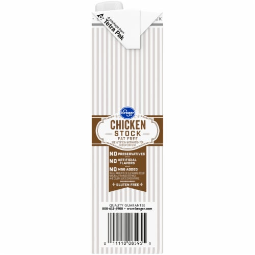 Kroger® Fat Free Chicken Stock Perspective: left