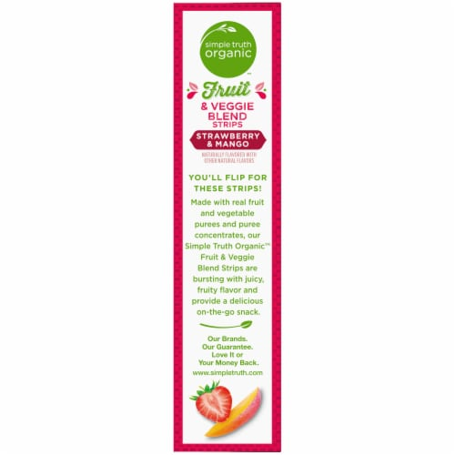 Simple Truth™ Organic Strawberry & Mango Strips Perspective: left
