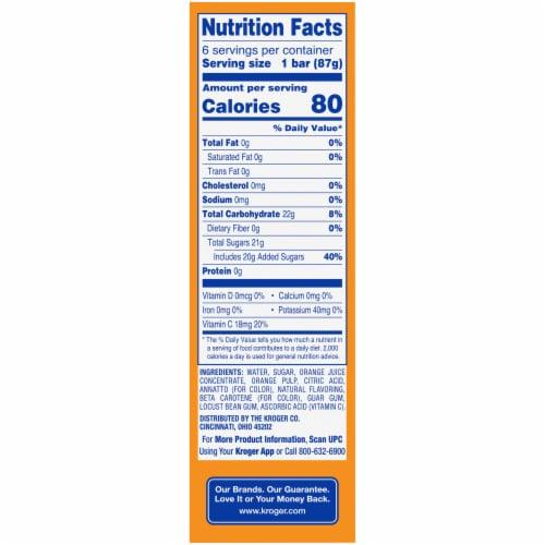 Kroger® Orange Frozen Fruit Bars Perspective: left
