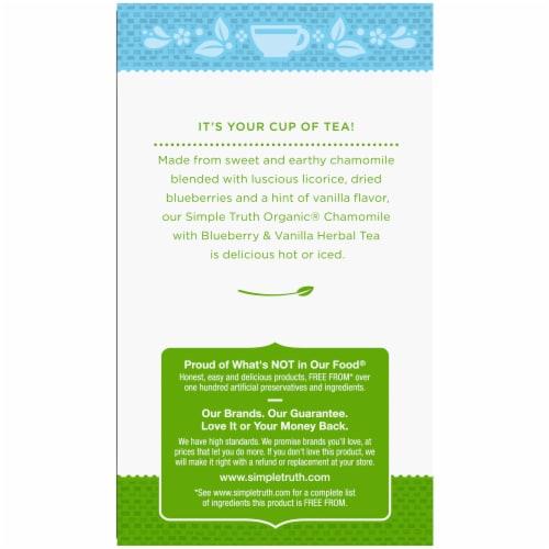 Simple Truth Organic® Chamomile Blueberry & Vanilla Herbal Tea Perspective: left