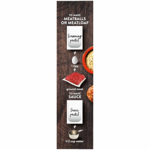 Kroger® Season & Sauce Rosemary Herb & Sun Dried Tomato Meatball & Meatloaf Kit Perspective: left