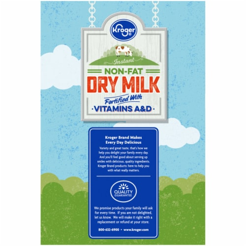 Kroger® Instant Non-Fat Dry Milk Pouches Perspective: left
