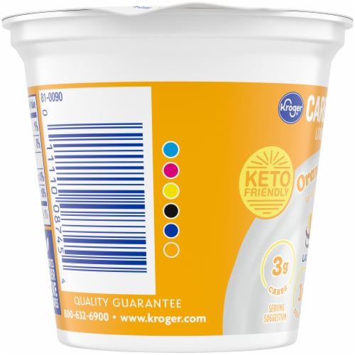 Kroger® Carbmaster® Orange Vanilla Lowfat Yogurt Perspective: left