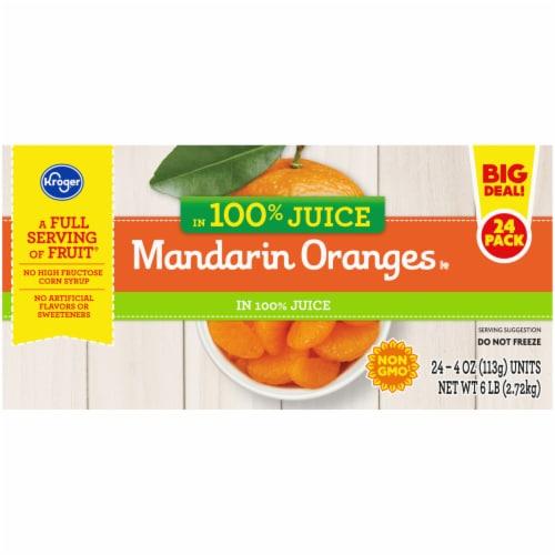 Kroger® Mandarin Oranges in 100% Juice Fruit Cups Perspective: left