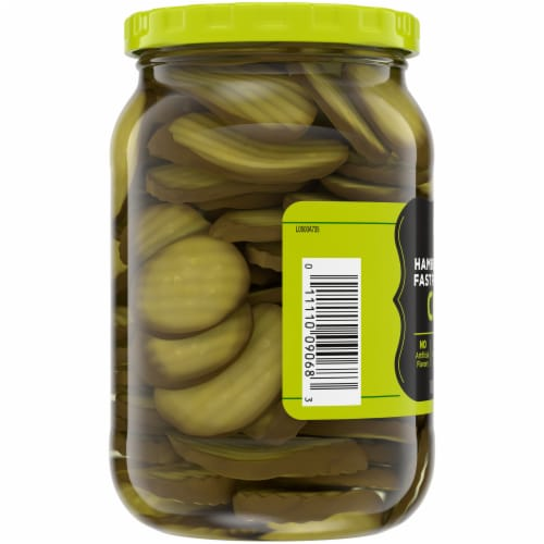 Kroger® Fast Food Style Hamburger Dill Pickle Chips Perspective: left
