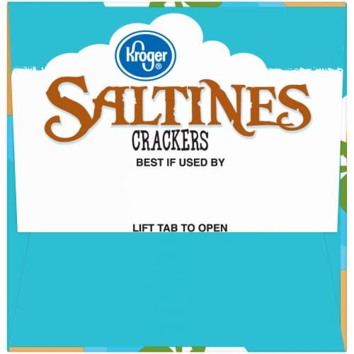 Kroger® Wheat Saltines Crackers Perspective: left