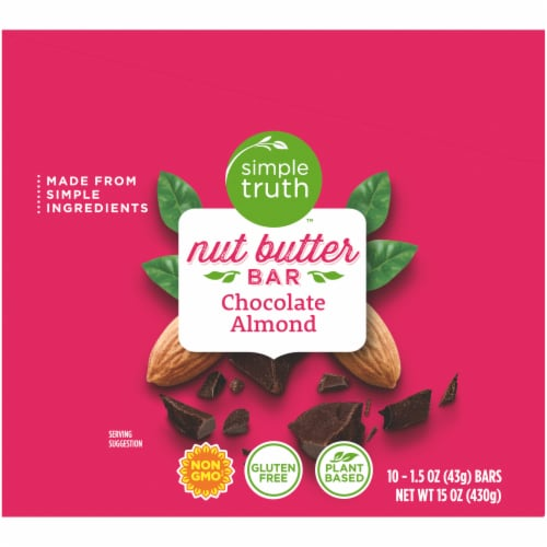 Simple Truth™ Chocolate Almond Nut Butter Bars Perspective: left