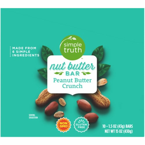 Simple Truth™ Peanut Butter Crunch Nut Butter Bar Perspective: left