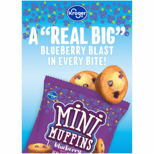 Kroger® Blueberry Mini Muffins Perspective: left
