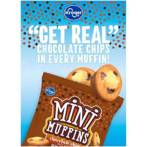 Kroger® Chocolate Chip Mini Muffins 20 Count Perspective: left