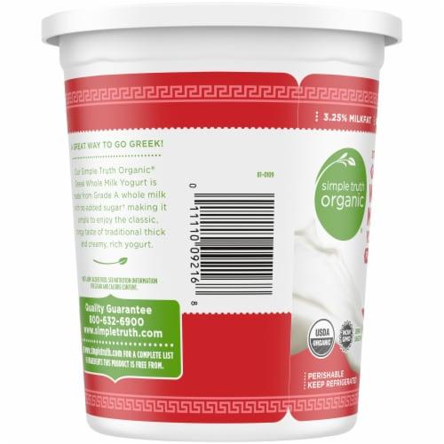 Simple Truth Organic™ Strained Greek Whole Milk Plain Yogurt Perspective: left