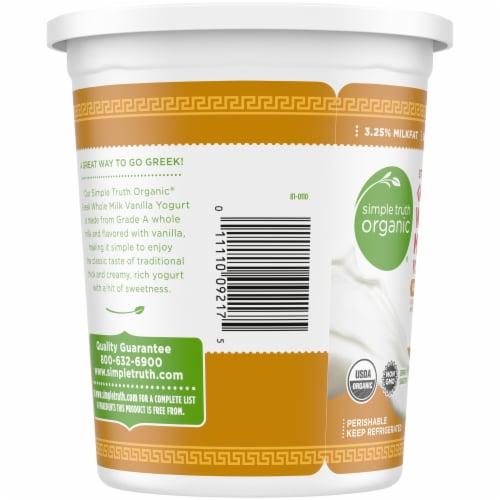 Simple Truth Organic™ Strained Greek Whole Milk Vanilla Yogurt Perspective: left