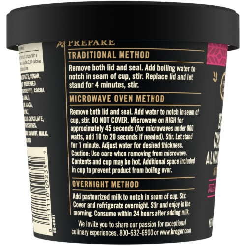 Private Selection™ Belgian Chocolate Almond Coconut Oatmeal Cup Perspective: left