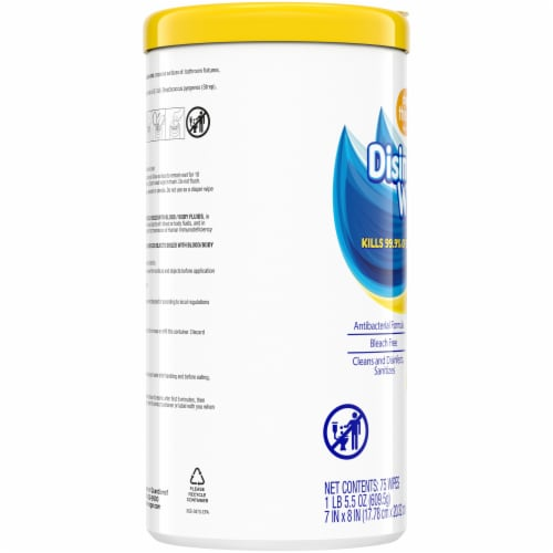Check This Out Lemion Scent Disinfecting Wipes Perspective: left