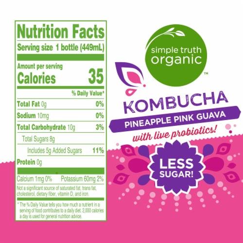 Simple Truth Organic™ Pineapple Pink Guava Kombucha Perspective: left