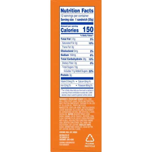Kroger® Chocolate Chip Snowborad Sandwich Perspective: left