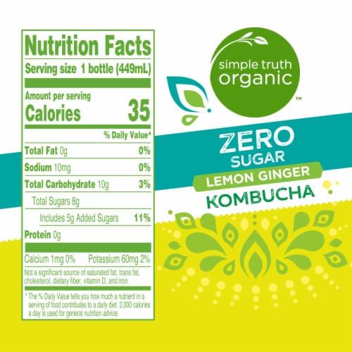 Simple Truth Organic™ Zero Sugar Lemon Ginger Kombucha Perspective: left