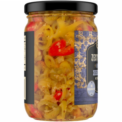 Private Selection® Zesty Garlic Hungarian Sliced Wax Peppers Perspective: left