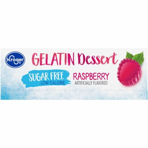 Kroger® Sugar Free Raspberry Gelatin Dessert Mix Perspective: left
