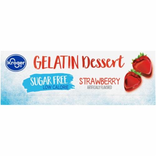 Kroger® Sugar Free Strawberry Gelatin Dessert Mix Perspective: left