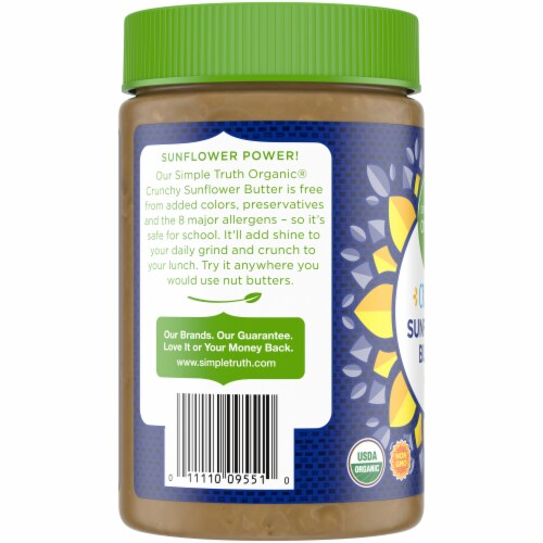 Simple Truth Organic Crunchy Sunflower Butter Perspective: left