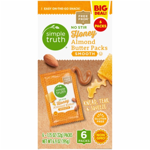 Simple Truth® Honey Almond Butter Pouch Perspective: left