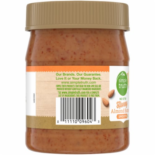 Simple Truth® No Stir Smooth Honey Almond Butter Perspective: left