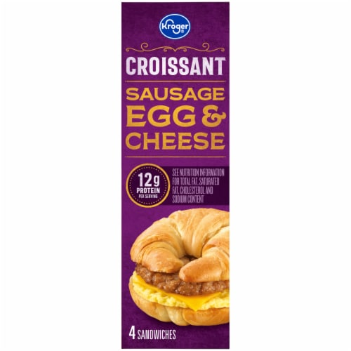 Kroger® Sausage Egg & Cheese Croissant Perspective: left