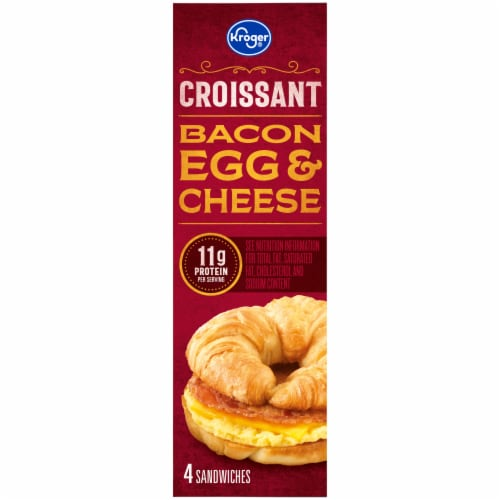 Kroger® Bacon Egg & Cheese Croissant Perspective: left