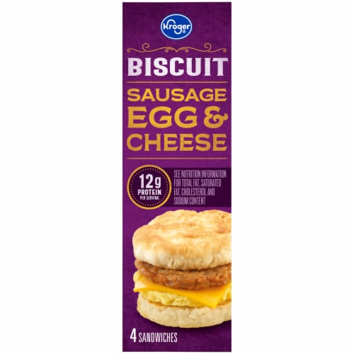 Kroger® Sausage Egg & Cheese Biscuit Perspective: left