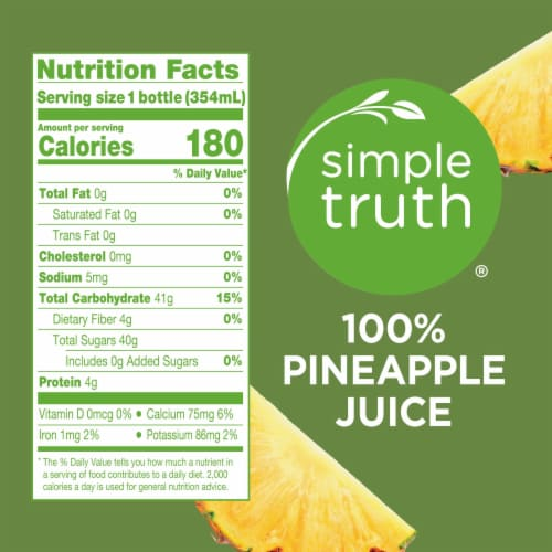 Simple Truth™ 100% Pineapple Juice Cold Pressed Perspective: left