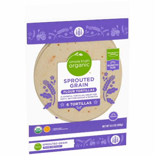 Simple Truth Organic™ Sprouted Grain Flour Tortillas Perspective: left