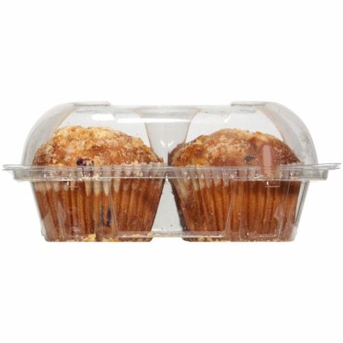 Bakery Fresh Goodness Lemon Blueberry Muffins Perspective: left