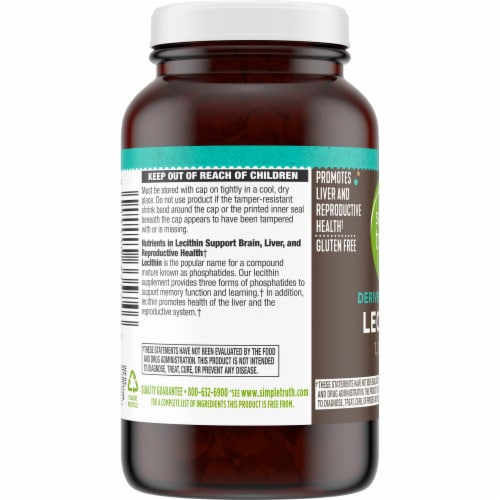 Simple Truth® Lecithin Softgels 1200mg Perspective: left