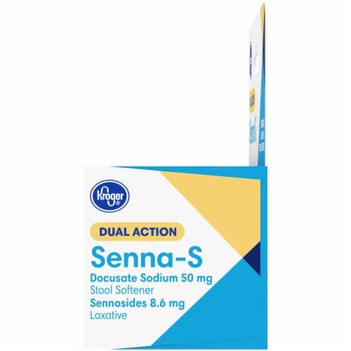 Kroger® Senna-S Natural Laxative Stool Softener Tablets Perspective: left