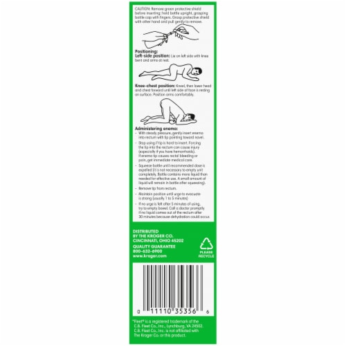 Kroger® Ready-to-Use Enema Saline Laxative Twin Pack Perspective: left