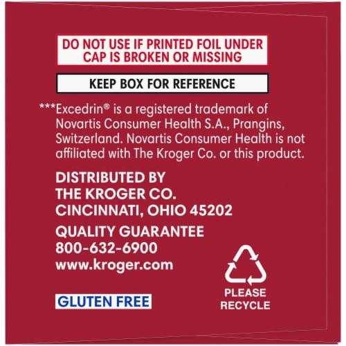 Kroger® Migraine Relief Acetaminophen Caplets Perspective: left