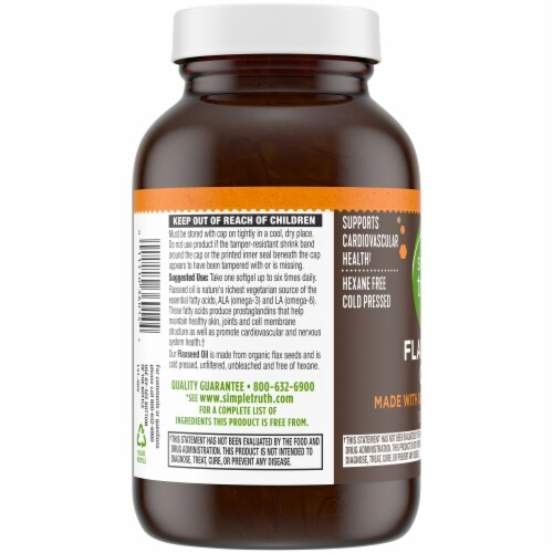 Simple Truth® Flaxseed Oil Softgels 1000 mg Perspective: left