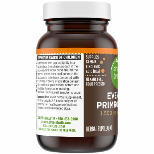 Simple Truth® Evening Primrose Oil Softgels 1500mg Perspective: left