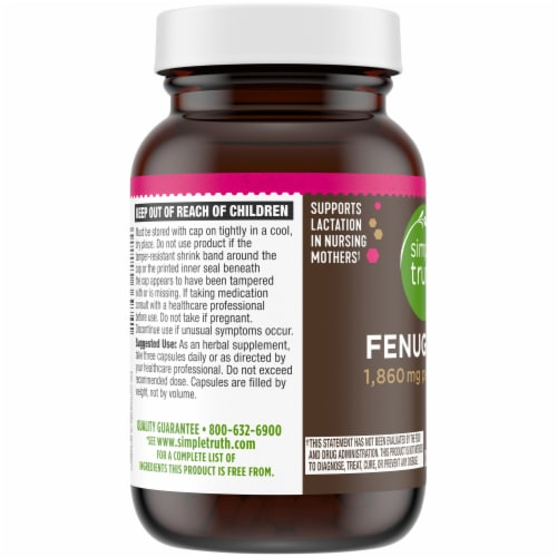 Simple Truth® Fenugreek Capsules 1860mg Perspective: left
