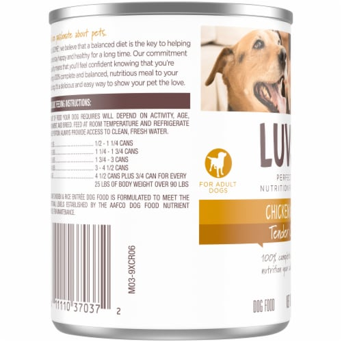 Luvsome® Chicken & Rice Entree Adult Dog Food Perspective: left