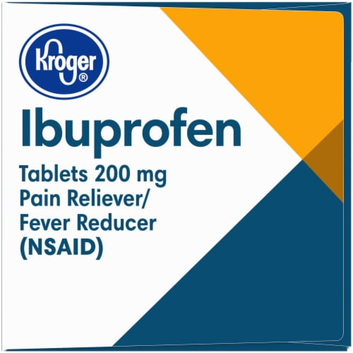 Kroger® Ibuprofen 200 mg Pain Reliever Coated Caplets Perspective: left