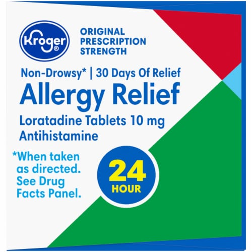 Kroger® Non-Drowsy Allergy Relief Loratadine Tablets Perspective: left