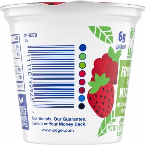 Kroger® Mixed Berry Fruit on the Bottom Lowfat Yogurt Perspective: left