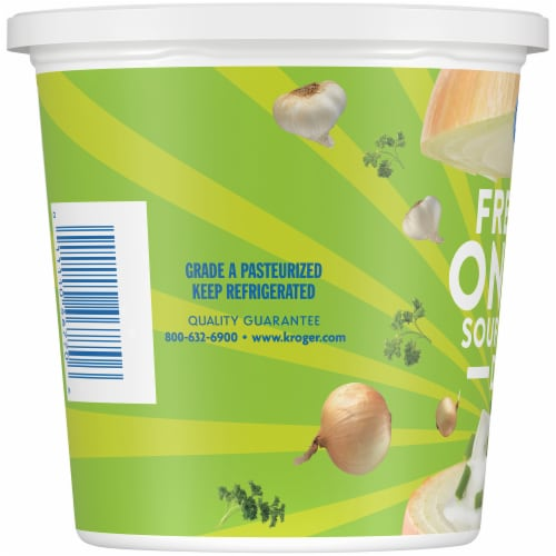 Kroger® French Onion Sour Cream Dip Tub Perspective: left