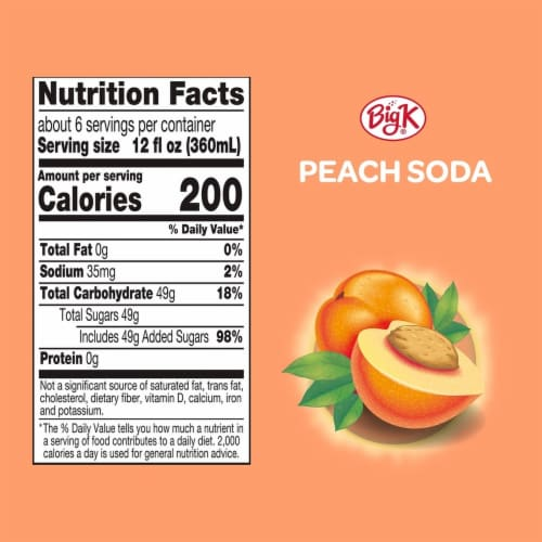 Big K® Peach Soda Perspective: left